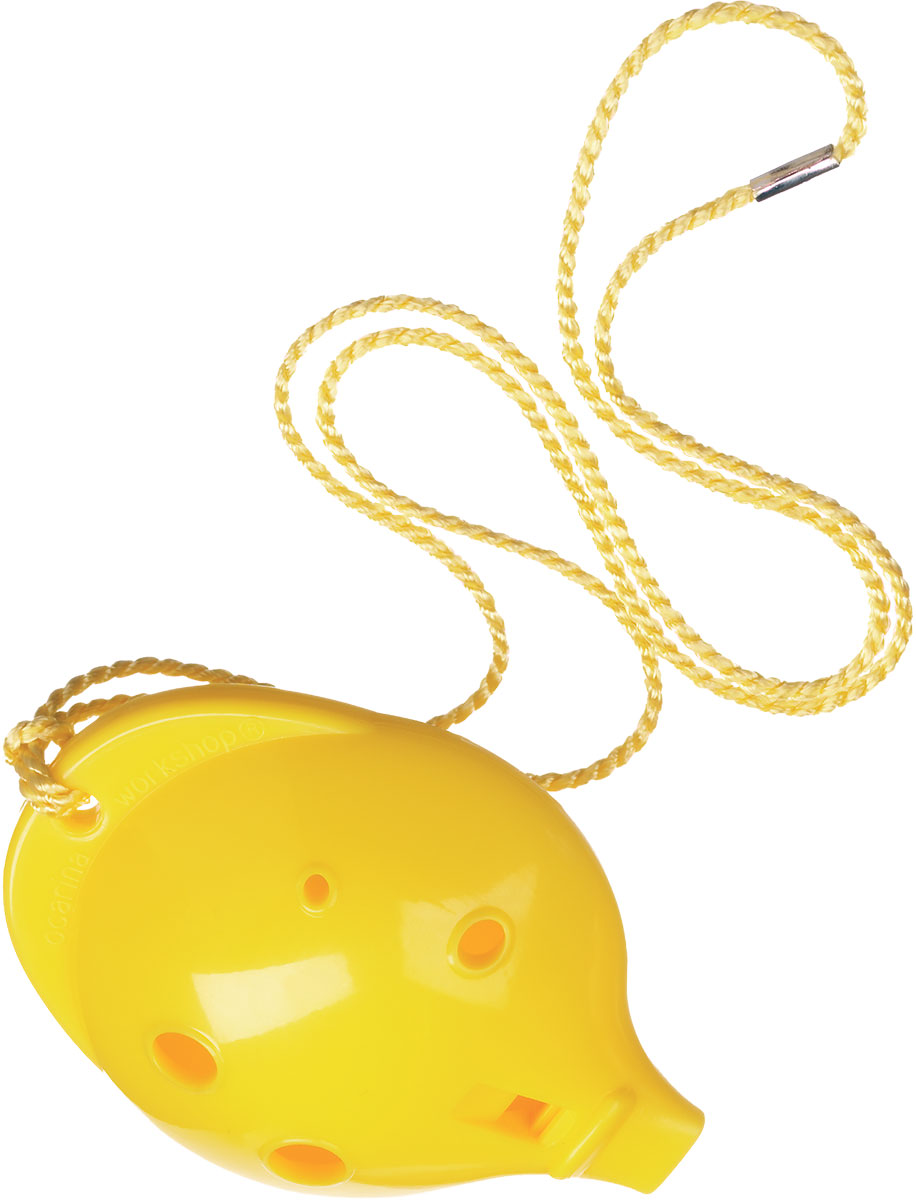 Ocarina Alto 6 Hole Yellow in Clam Pack