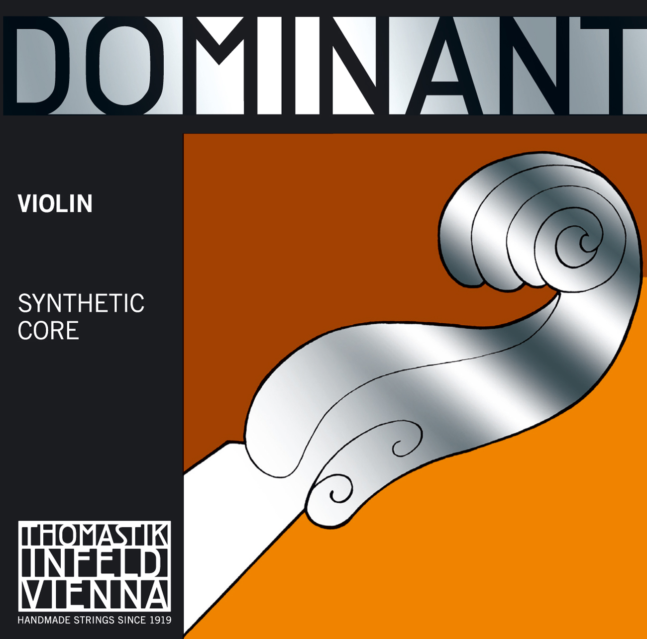 Dominant Violin E 1/2 Chrome Steel Loop End R