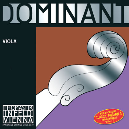 Dominant Viola D Silver Wound 4/4 - Strong