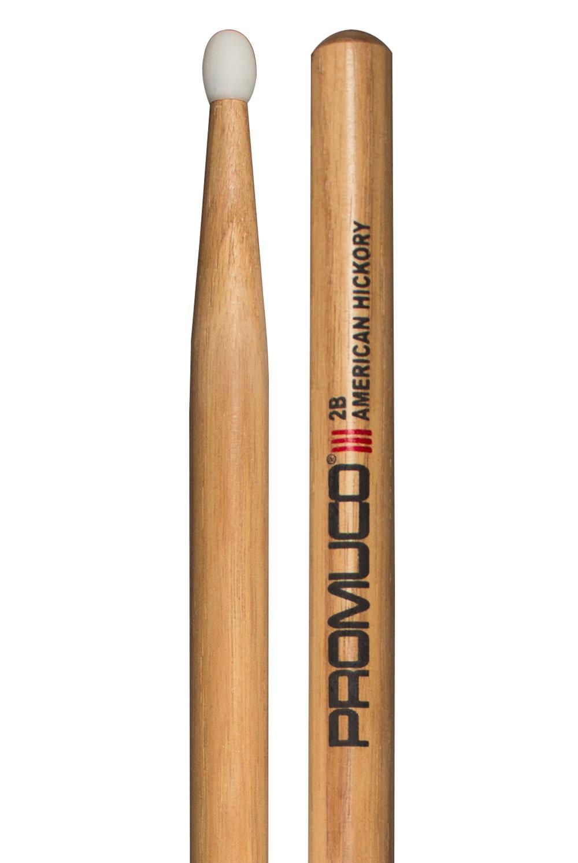 Promuco Drumsticks - Hickory 2B Nylon Tip
