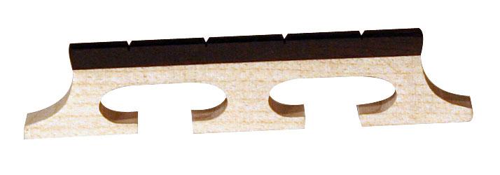 Barnes and Mullins Banjo Bridge Ebony Inlay Slotted 4 String 1/2