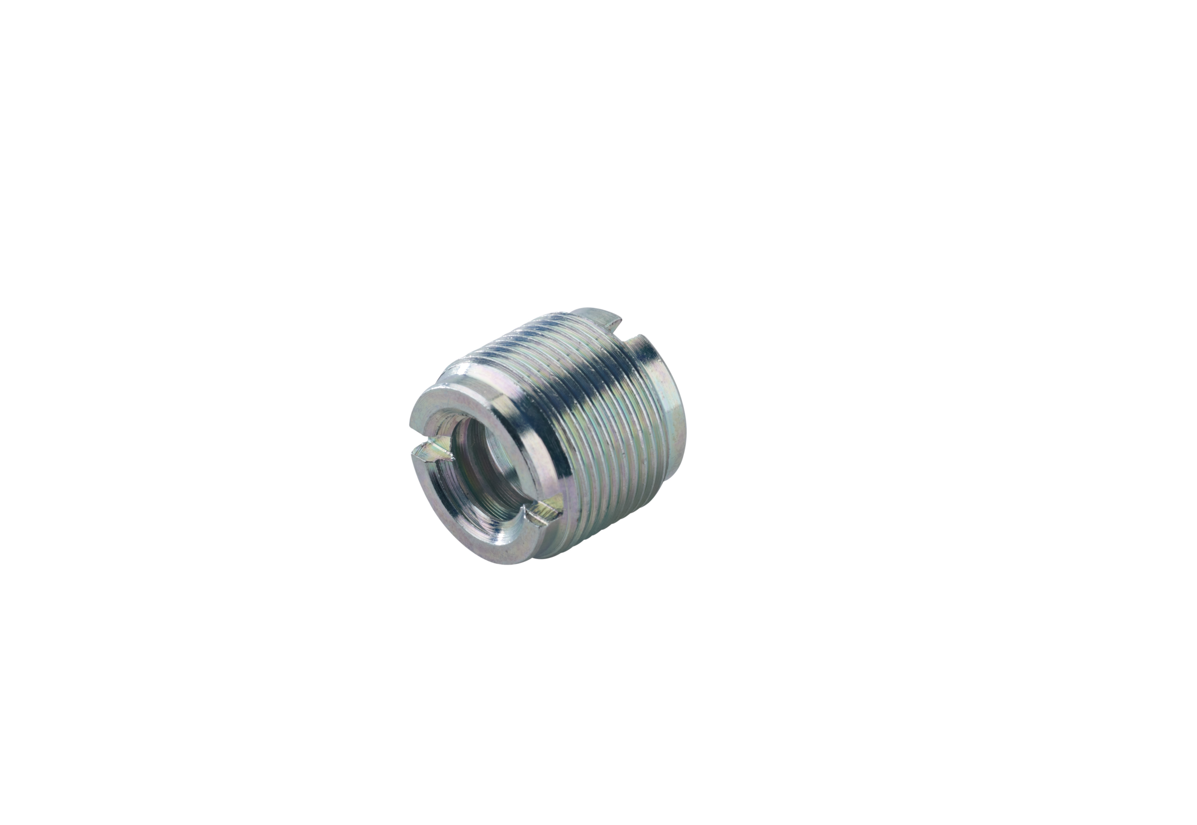 K&M Thread Adapter Zinc Plated 1/2 - 3/8 inch