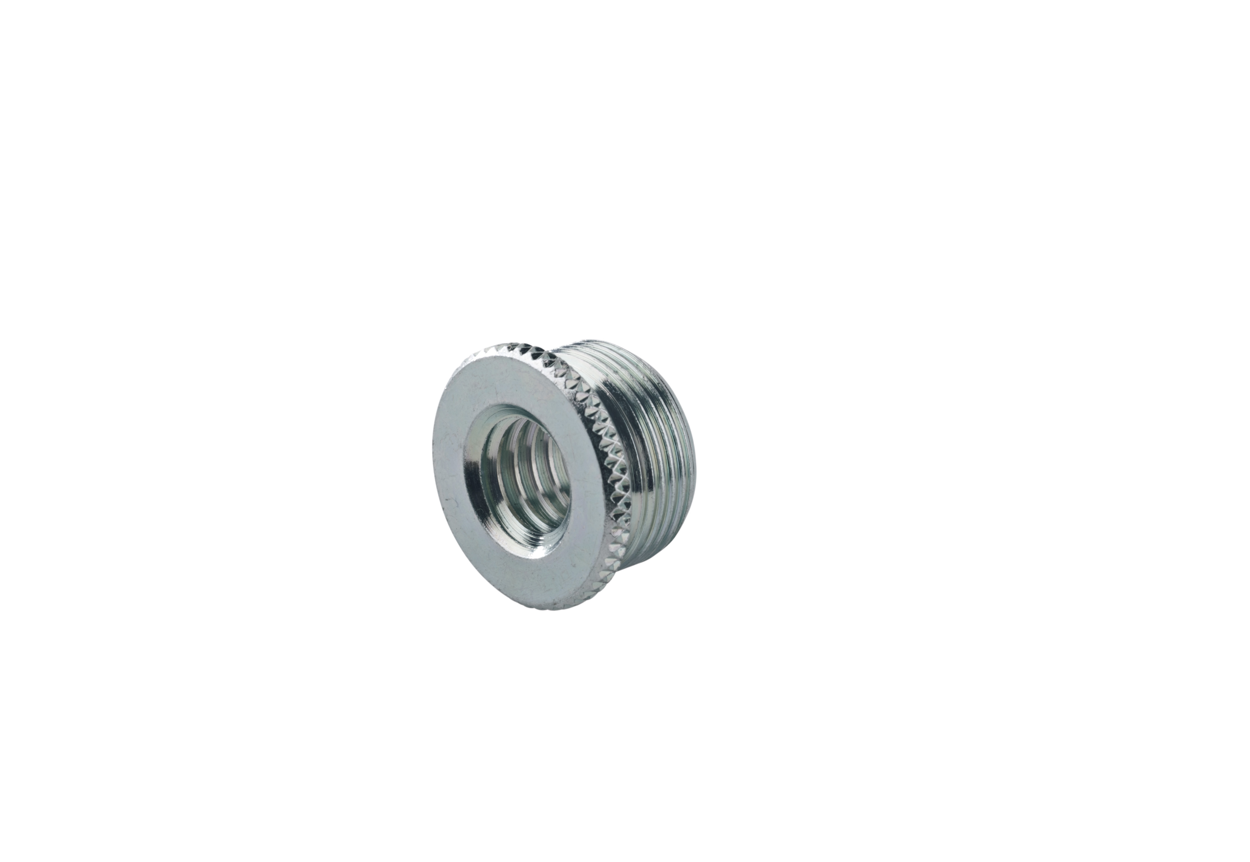 K&M Thread Adapter Zinc Plated 3/8 inch