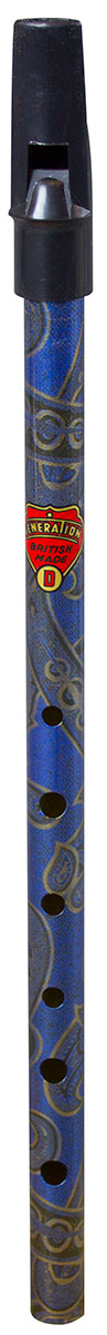Flageolet Boho D Whistle - Paisley Blue