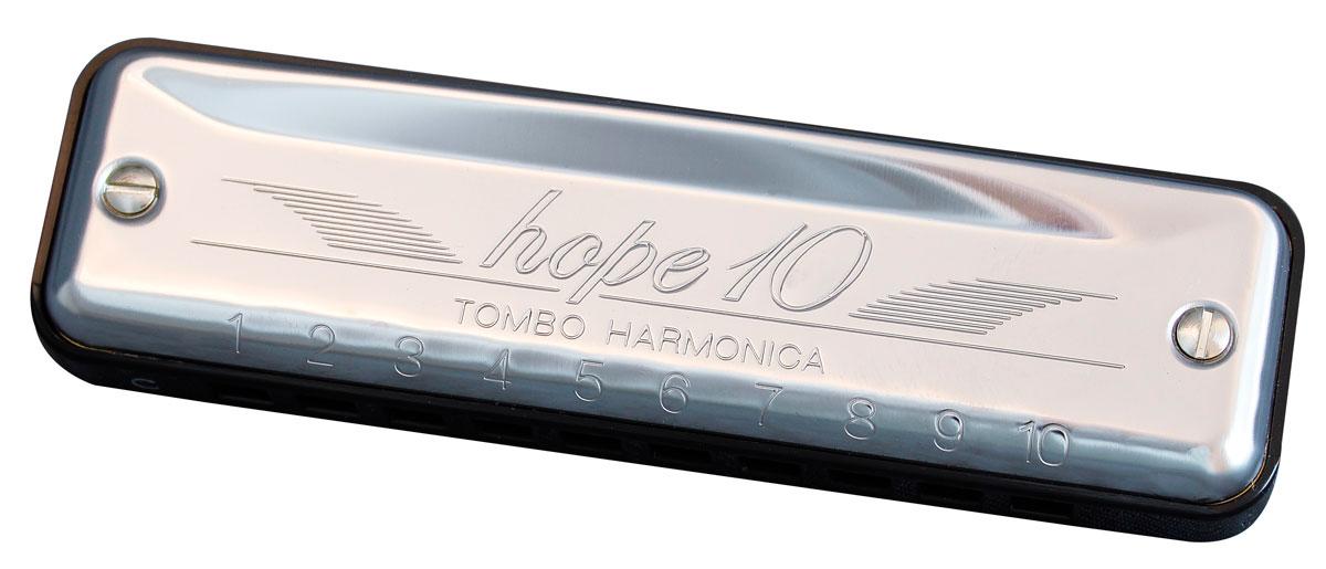 Tombo Harmonica Hope 10 hole Diatonic D