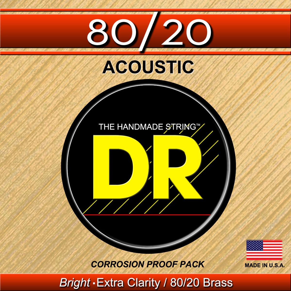 DR Strings Hi-Beam 80/20 Acoustic Medium - Light