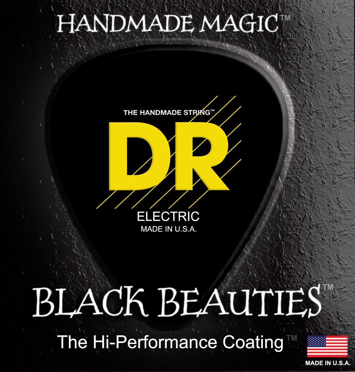 DR Strings Black Beauties Bass Light
