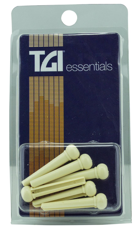 TGI Bridge Pins - Plastic Cream, with Dot
