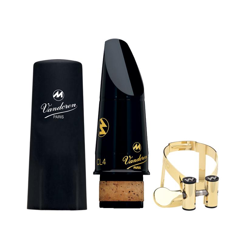 Vandoren Mouthpiece/Ligature/Cap Set Masters CL4+Gold Pl+Plastic