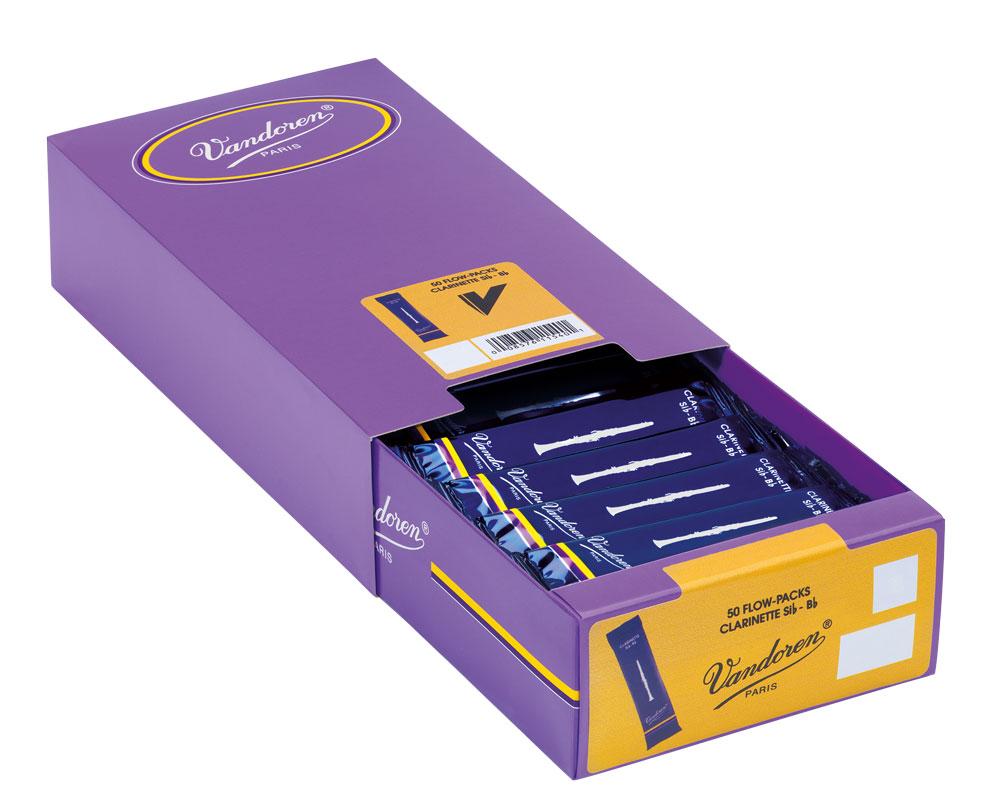 Vandoren Reeds Clarinet Bb 3 Traditional 50 BOX