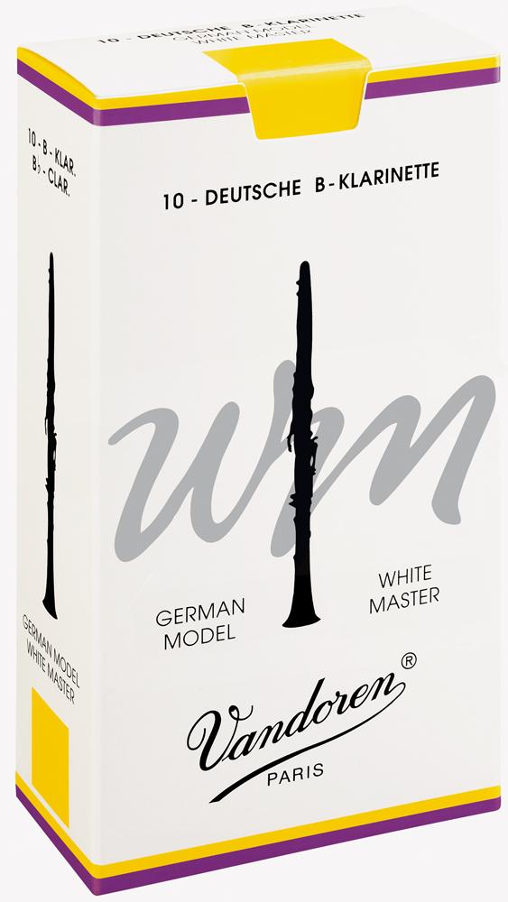 Vandoren Reeds Clarinet Bb 2 White Master 10 BOX