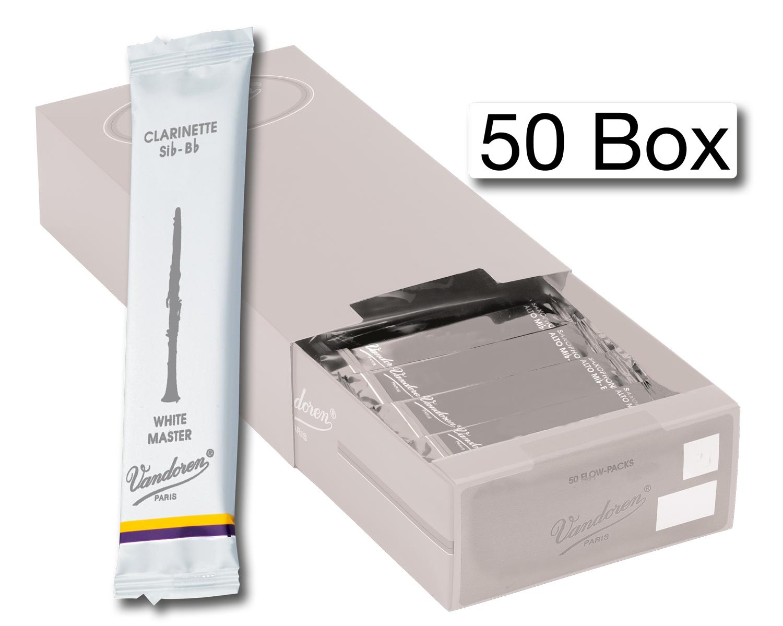 Vandoren Reeds Clarinet Bb 2 5 White Master 50 BOX