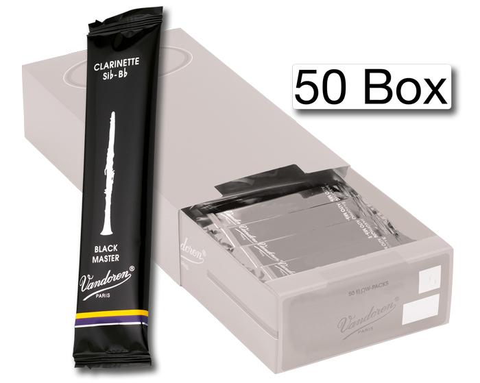 Vandoren Reeds Clarinet Bb 3 5 Black Master 50 BOX