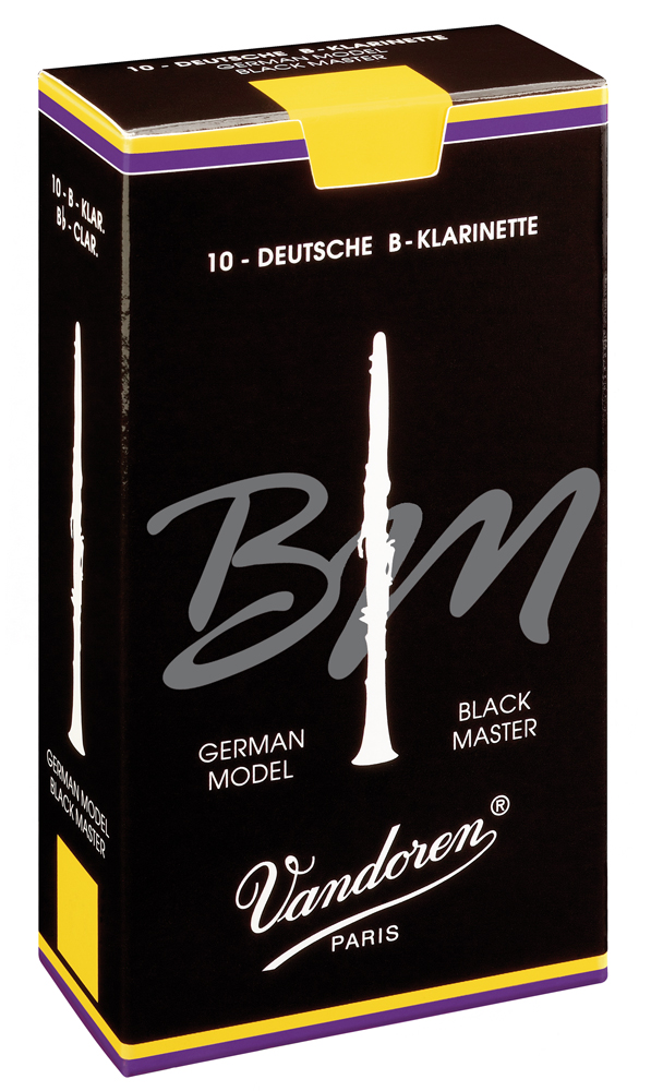 Vandoren Reeds Clarinet Bb 5+ Black Master 10 BOX