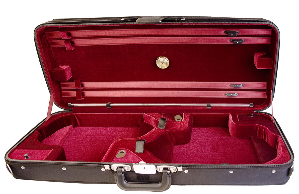 Hidersine Case Violin Double Wooden Arched Top