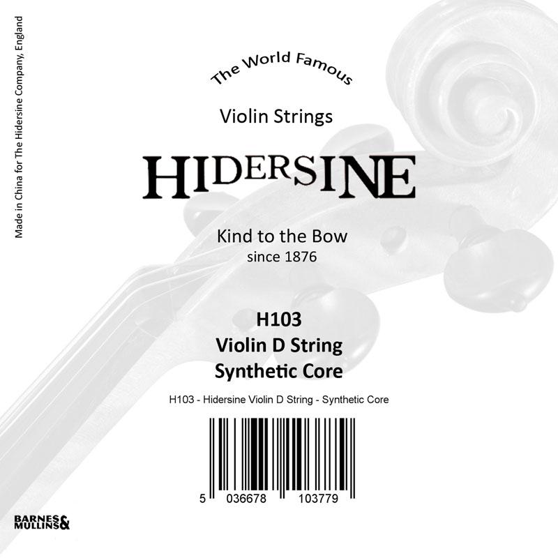 Hidersine Violin D Synthetic Core 1/2 - 1/4