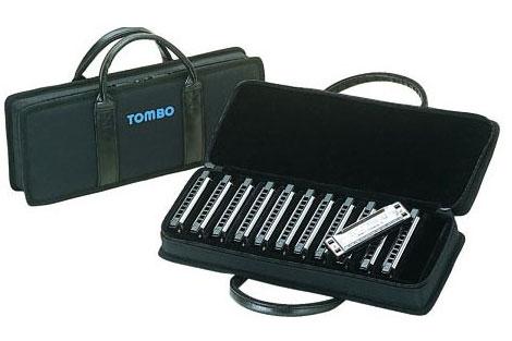 Tombo Harmonica Case 10 Hole Holds 12pcs