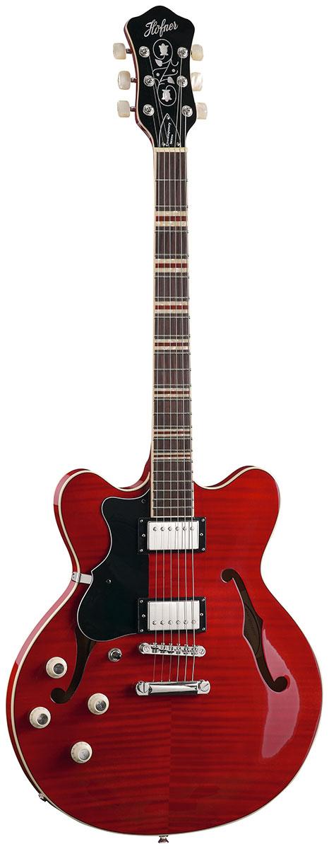 Hofner HCT Verythin - Red Left-Handed
