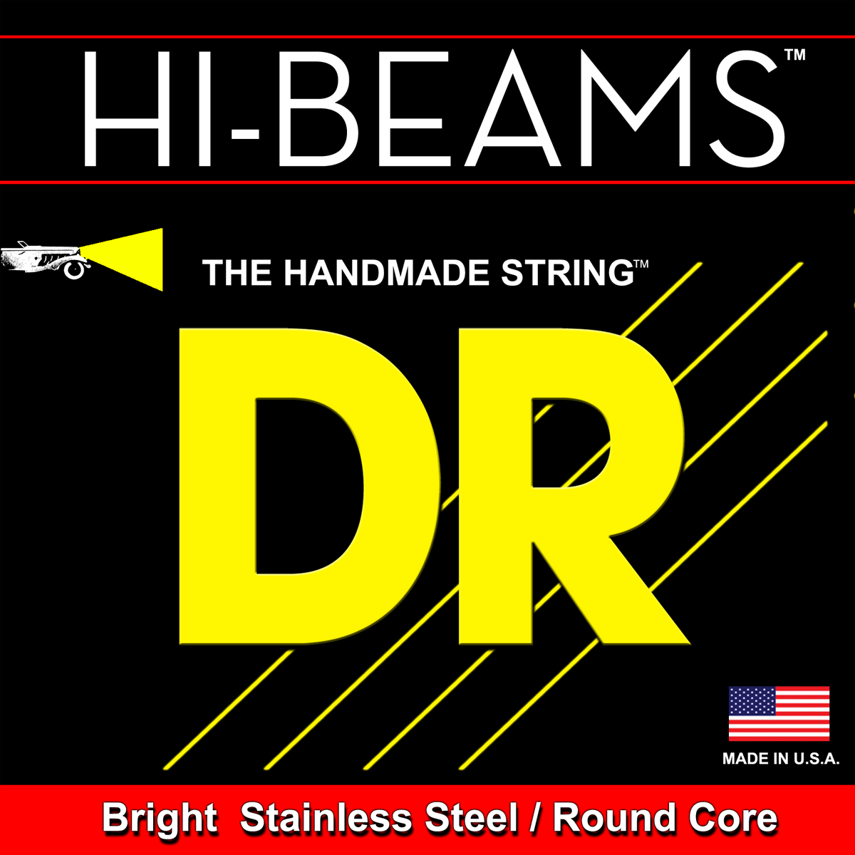 DR Strings Hi-Beam Round Core Bass Medium 6 String