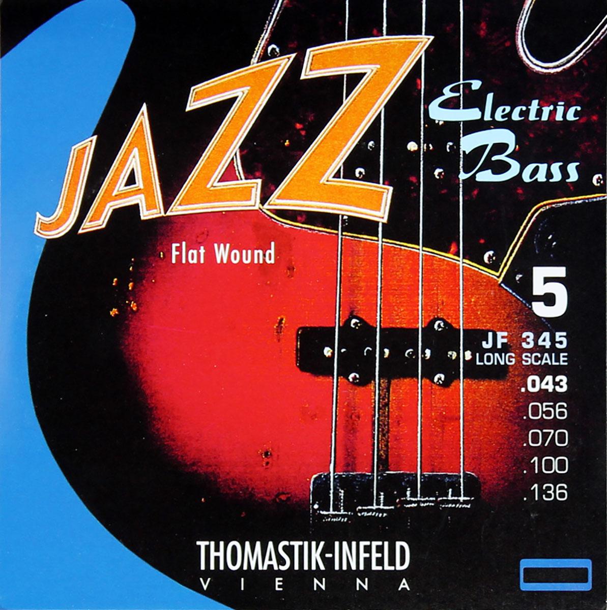Thomastik Jazz Bass SET Flatwound Xlong scale 36, 5 String 43-136