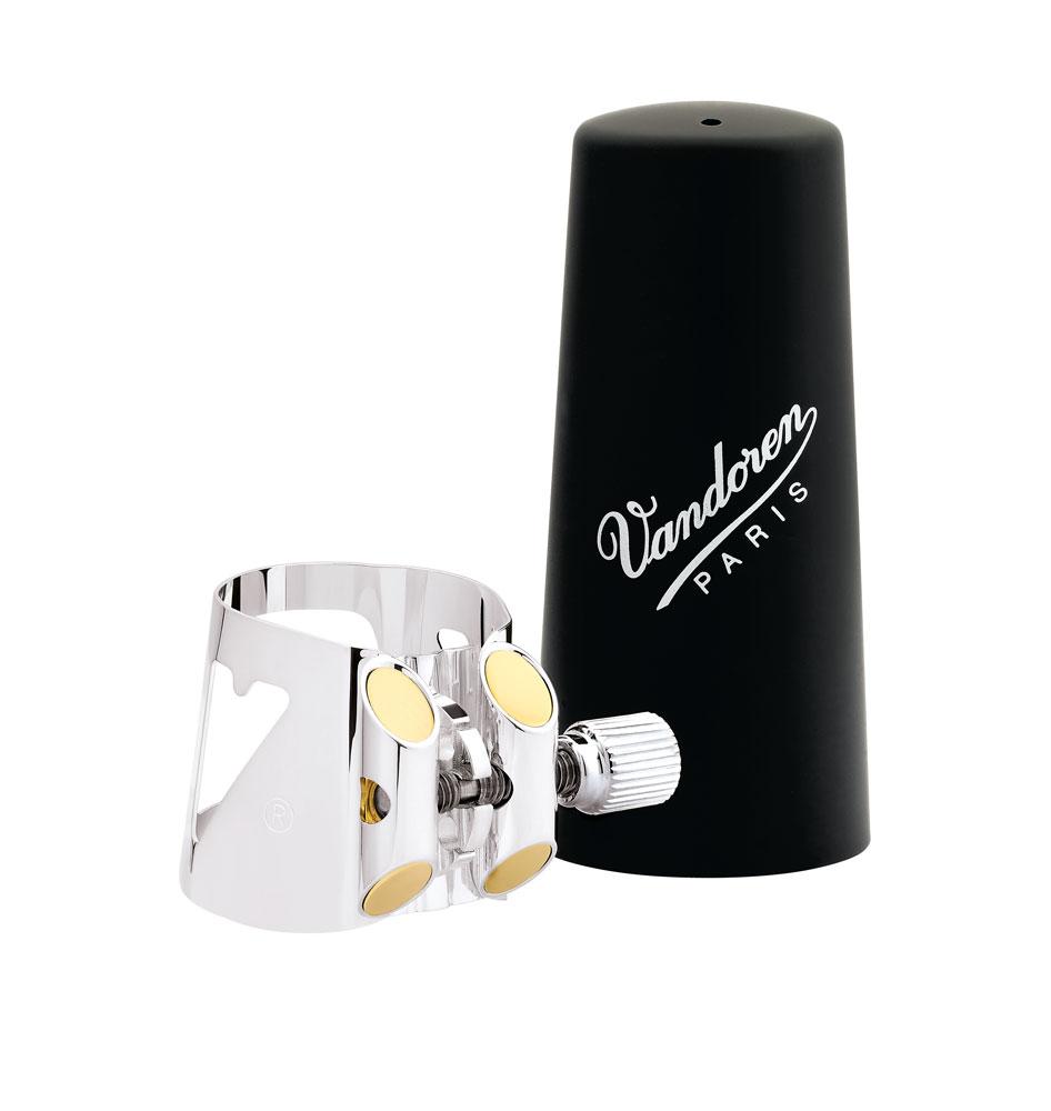 Vandoren Ligature & Cap Clarinet Eb Silver+Plastic