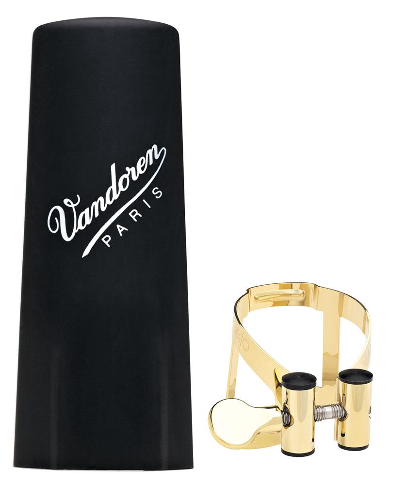 Vandoren Ligature & Cap Clarinet Bb Gold Pl M/O+Plastic