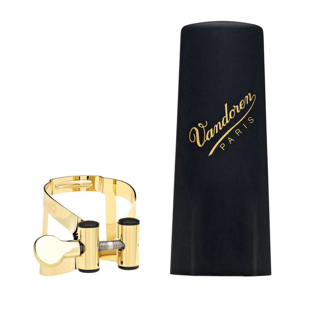 Vandoren Ligature & Cap Soprano Sax Gold M/O+Plastic