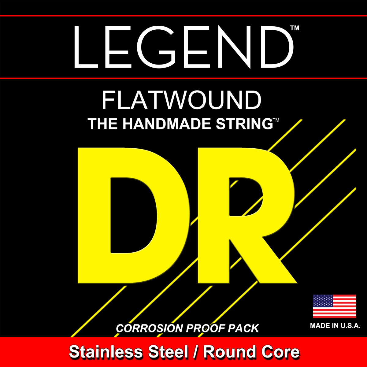 DR Strings Legends Flats Bass Medium - 5 String