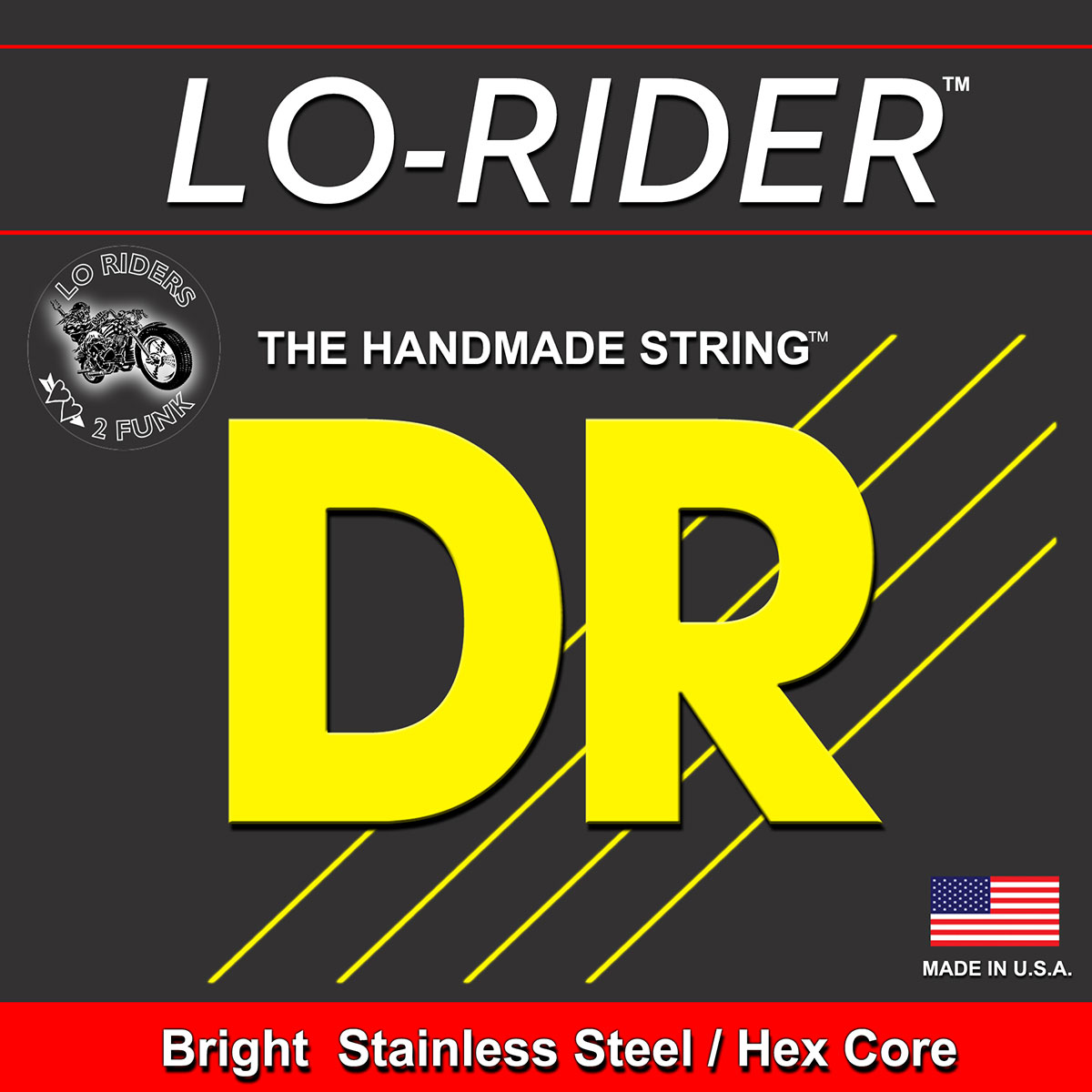 DR Strings Lo-Rider Bass Heavy