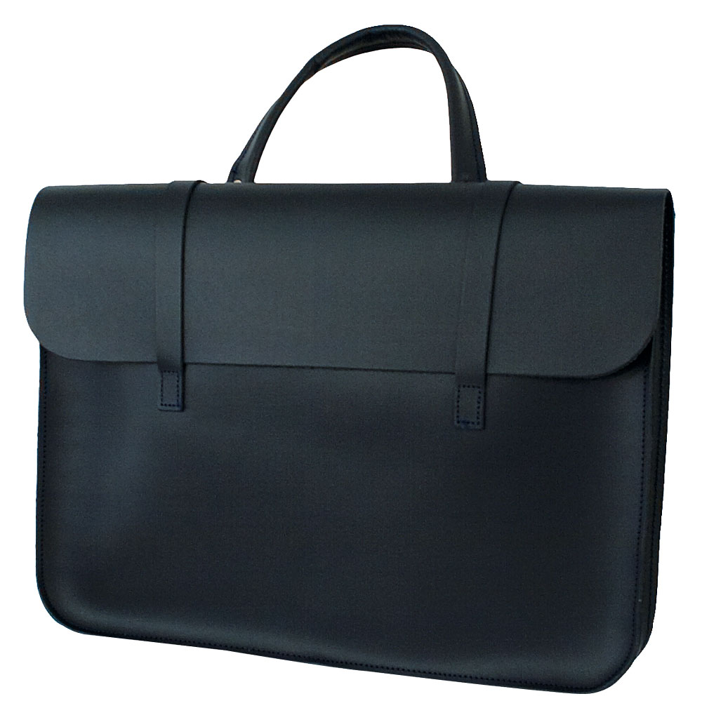 Music Case Leather - Navy Blue