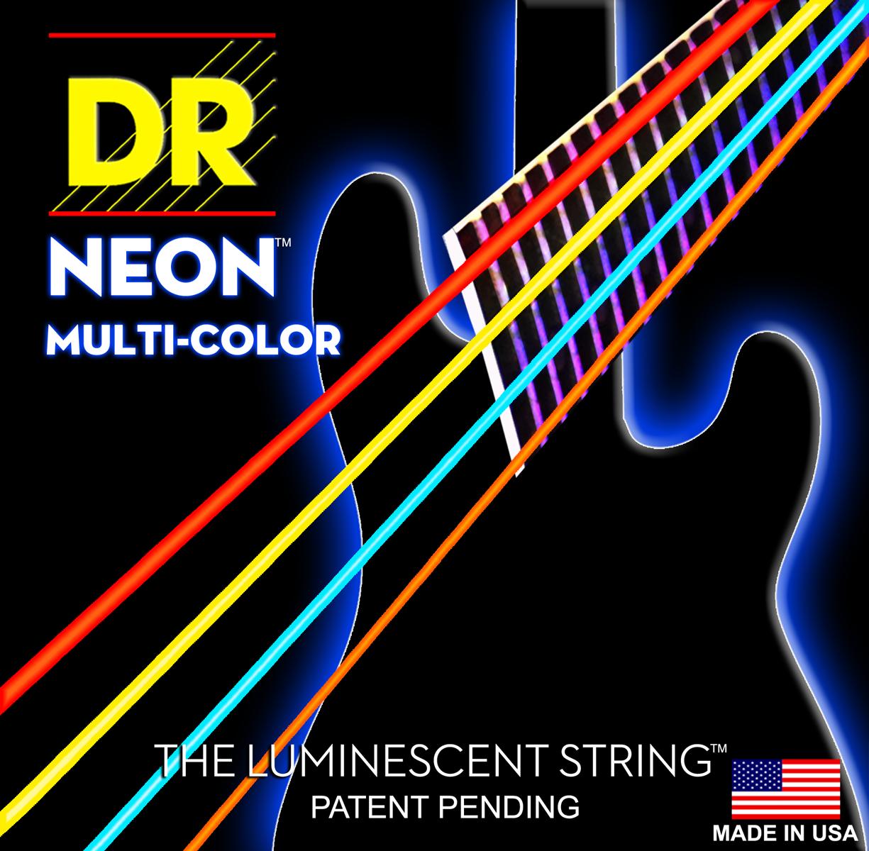 DR Strings Hi-Def Neon White Bass Medium 5 String