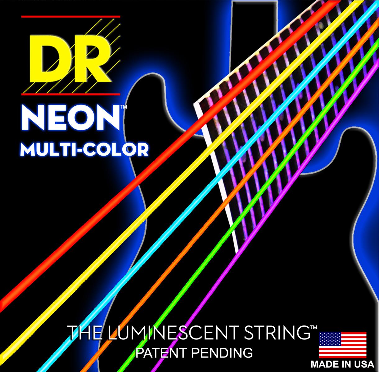 DR Strings Hi-Def Neon Orange Electric Light