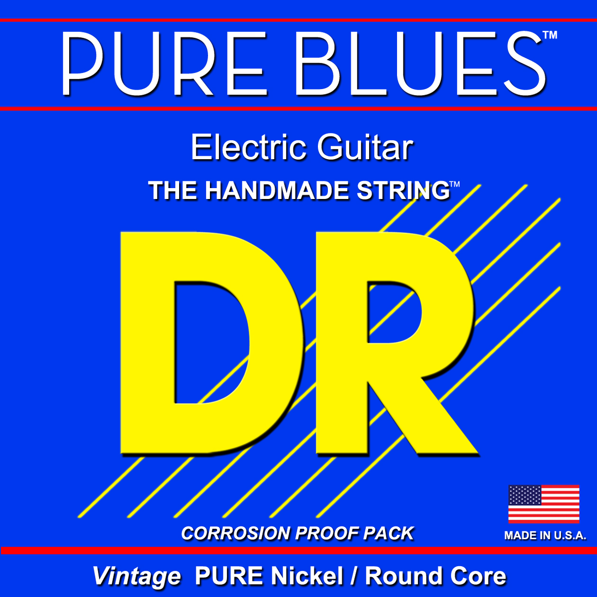 DR Strings Pure Blues Electric String D 0 024