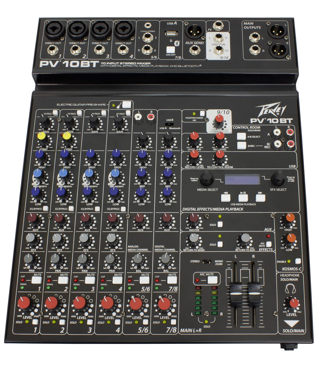 Peavey Mixer PV10 BT Bluetooth