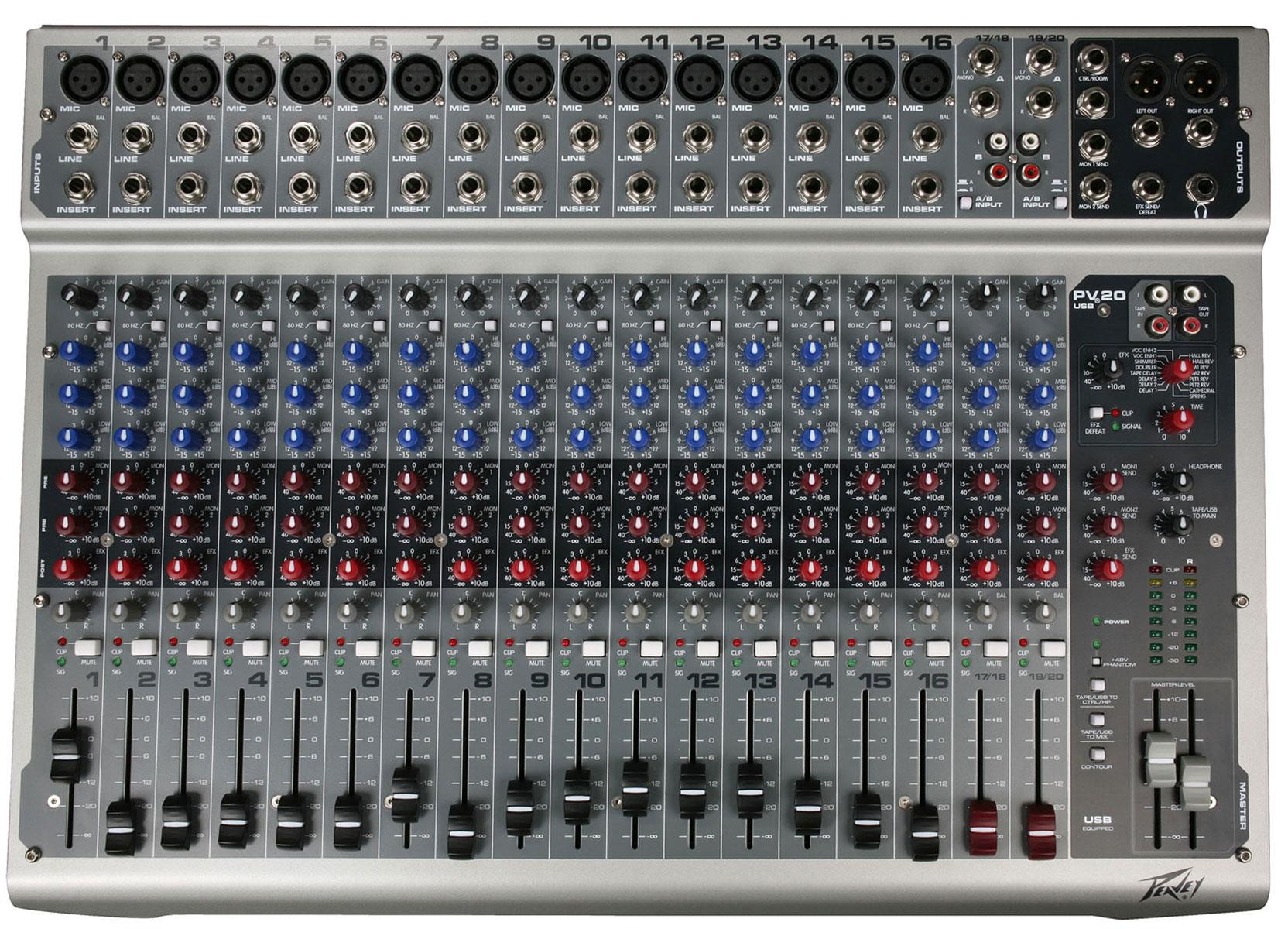 Peavey Mixer PV20 USB