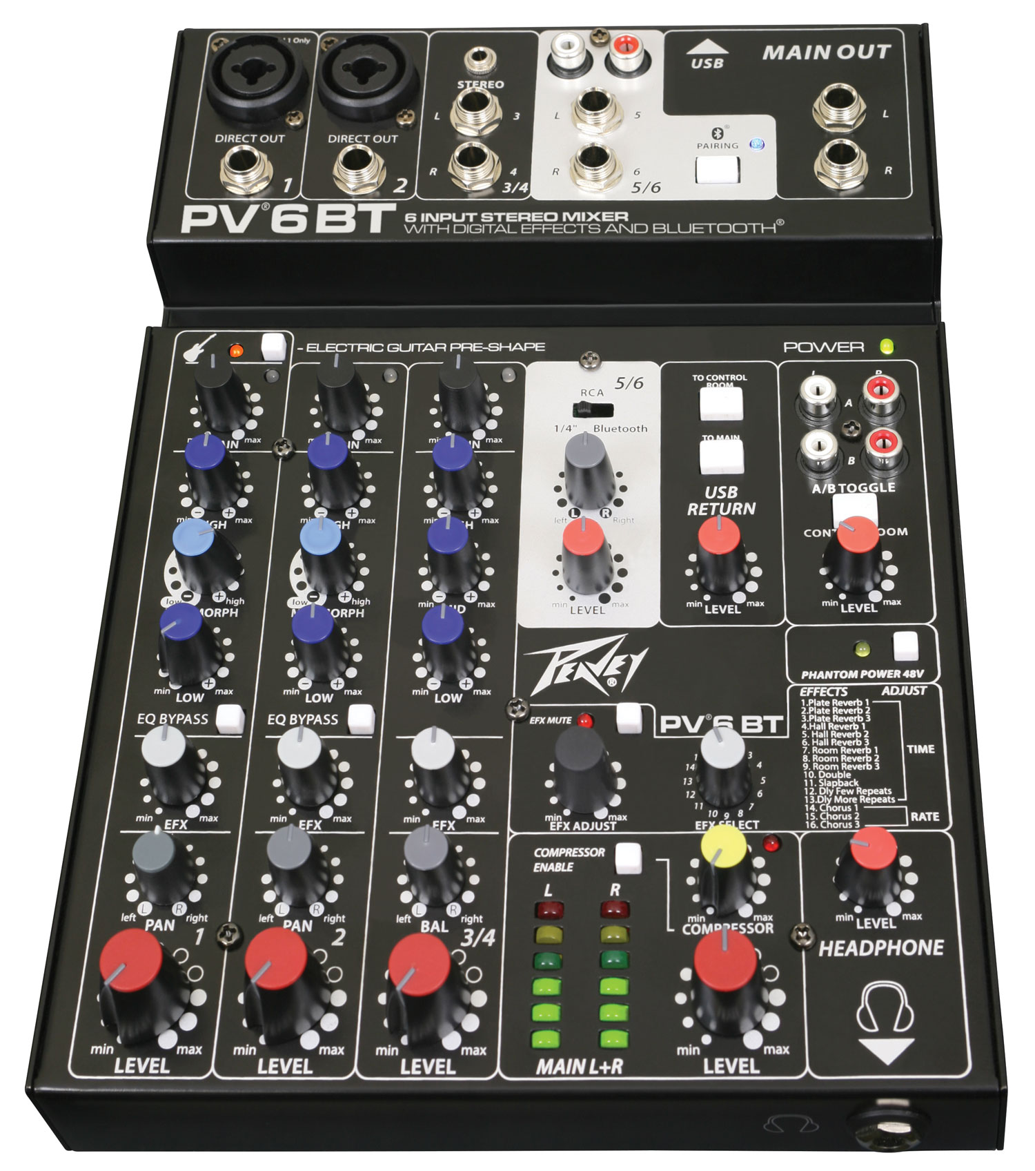 Peavey Mixer PV 6 BT Bluetooth