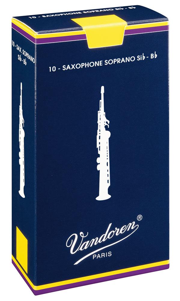 Vandoren Reeds Soprano Sax 3 Traditional 10 BOX