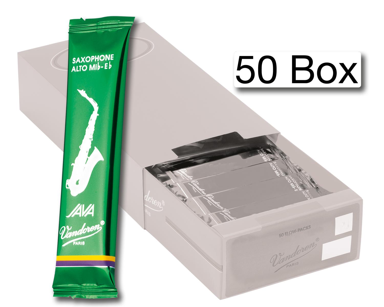 Vandoren Reeds Alto Sax 2 Java 50 BOX