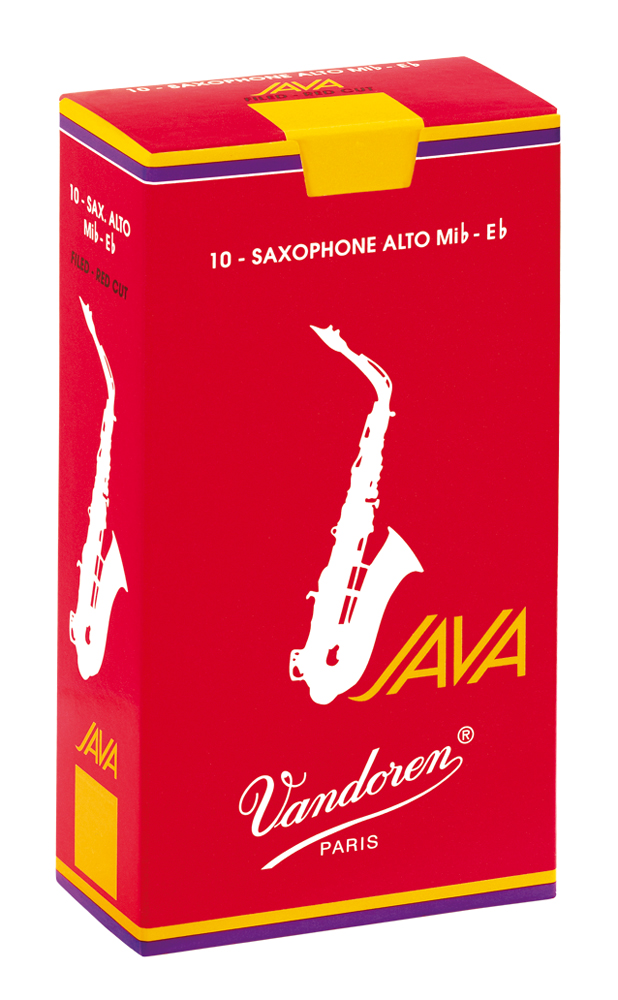 Vandoren Reeds Alto Sax 4 Java Red 10 BOX