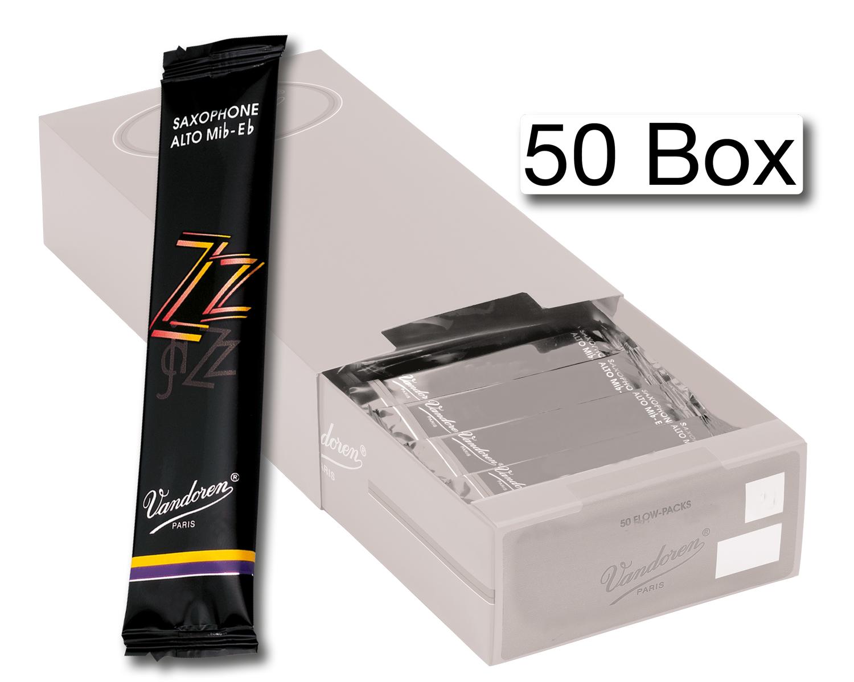 Vandoren Reeds Alto Sax 2 5 Jazz 50 BOX
