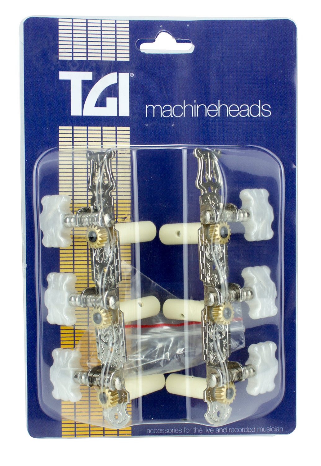 TGI Machineheads Classical 3 in a Line Lyra Style Nickel