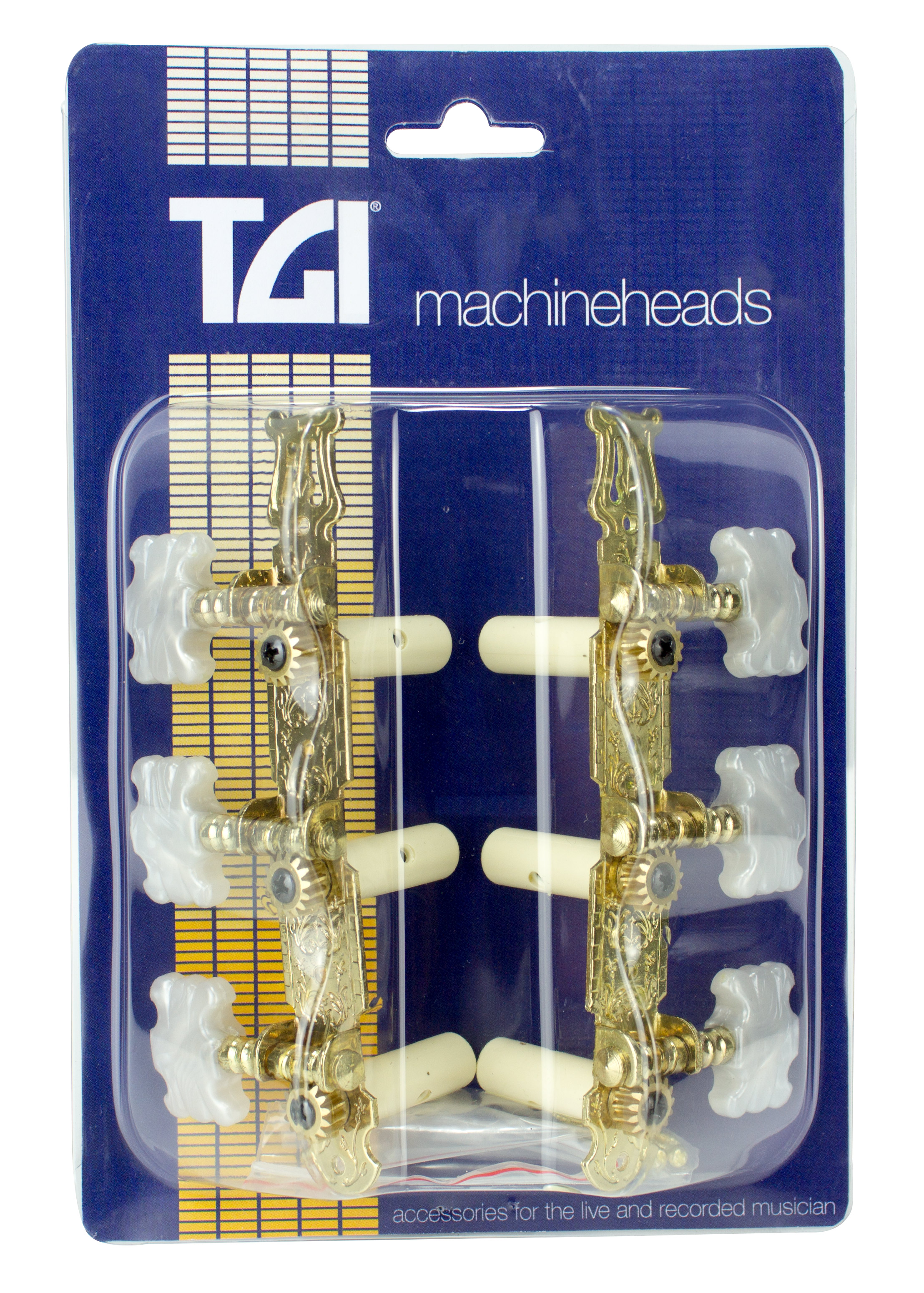 TGI Machineheads Classical 3 in a Line Lyra Style Gold