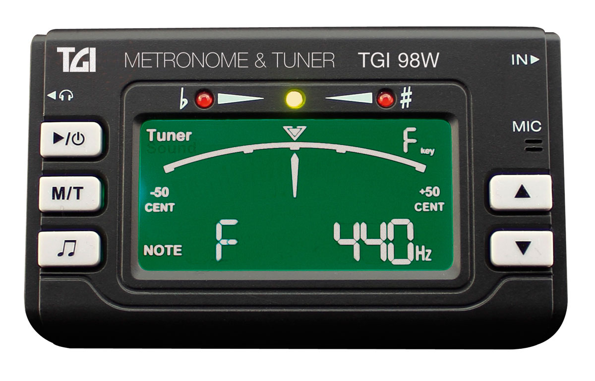TGI Tuner Woodwind Brass Tuner and Metronome with Clip On Mic