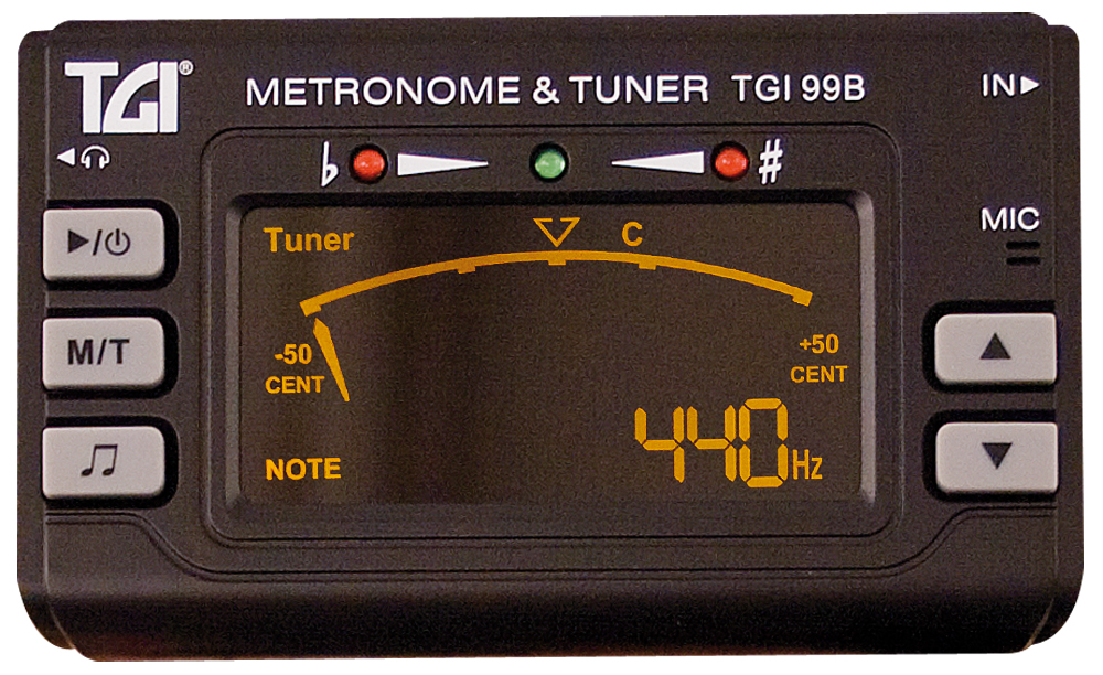 TGI Tuner Chromatic Tuner/Metronome with Clip On Mic