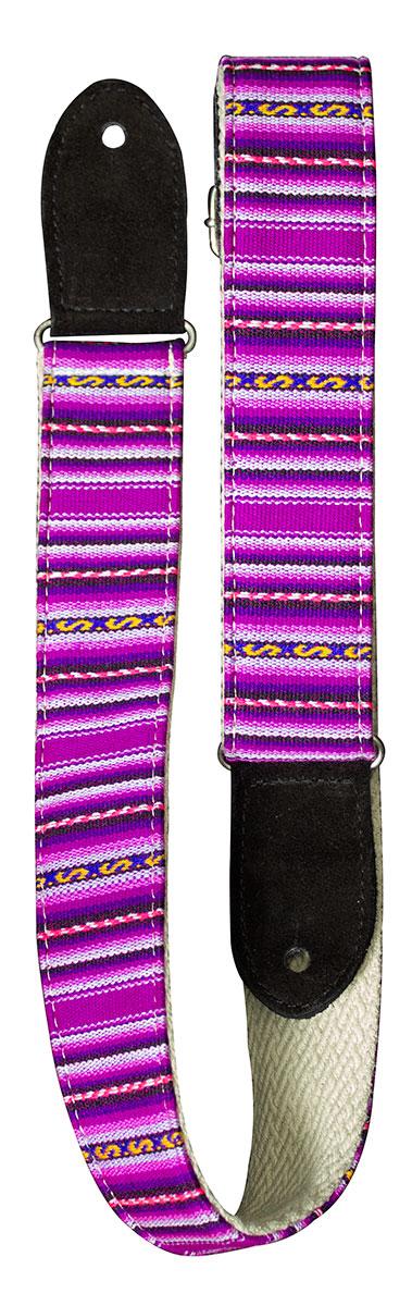 TGI Handcrafted Guitar Strap Inca Purple