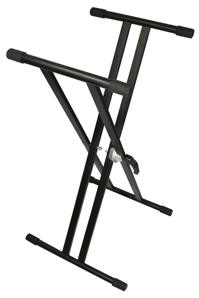 TGI Keyboard stand Double Braced Black