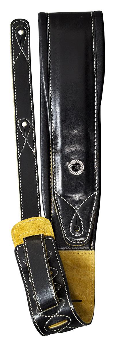 TGI Strap Padded Black Leather