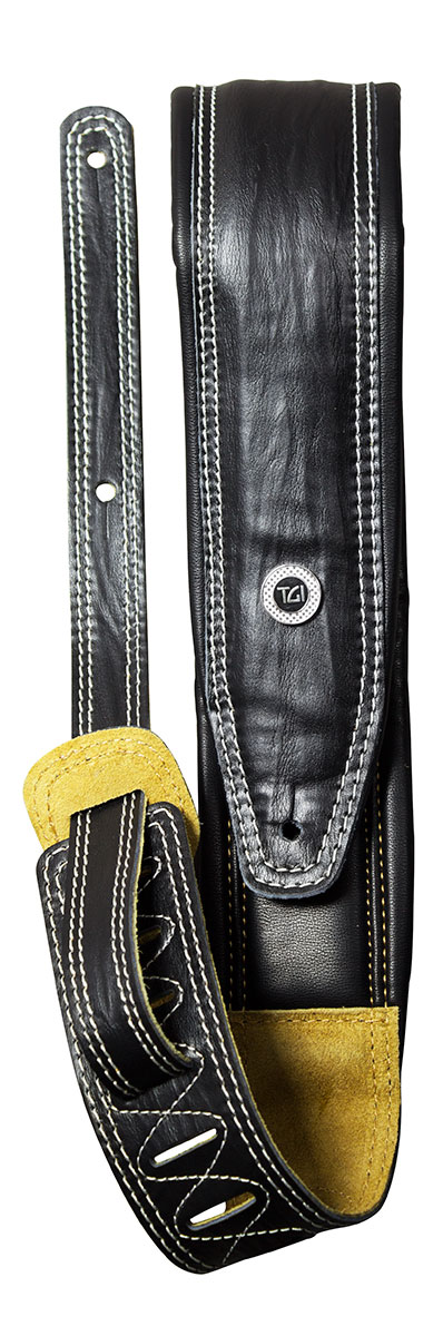 TGI Strap Padded Black Leather
