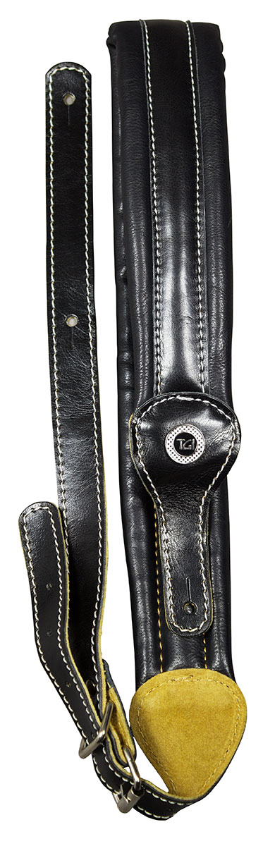 TGI Strap Padded Series Black Leather