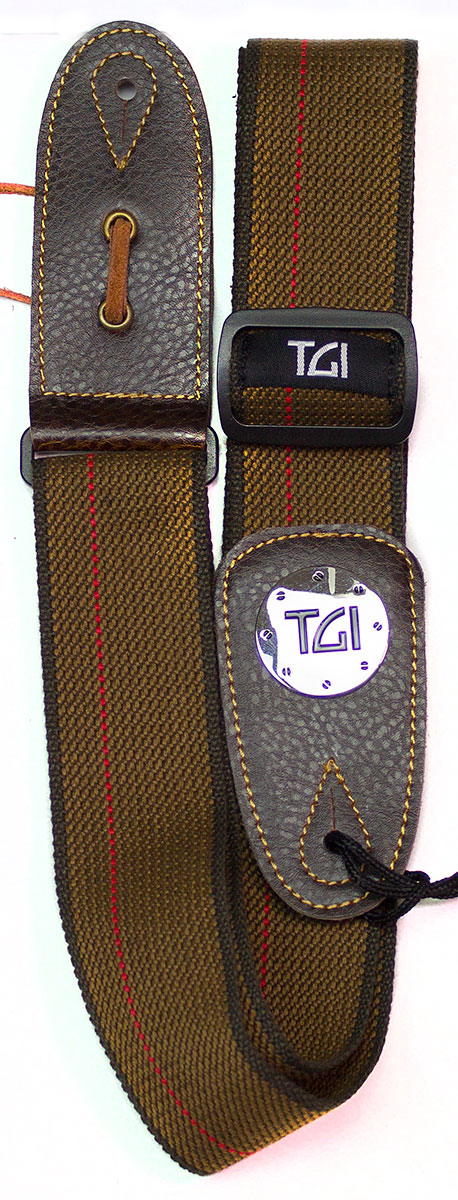 TGI Strap Woven Brown and Red Stripe